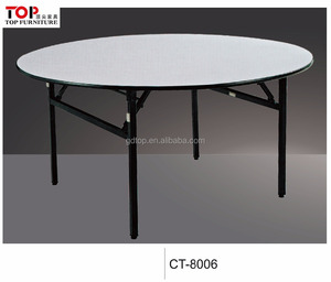 Half round hotel folding table for banquet hall
