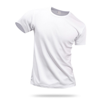 Men's Cheap Plain O-Neck White Blank T Shirts For Printing
