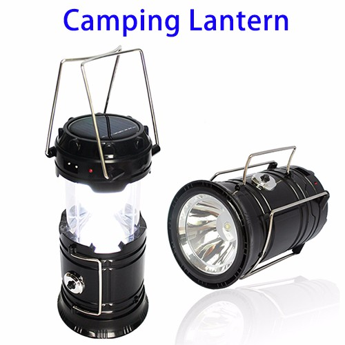 Portable Outdoor Camping Light Rechargeable Solar LED Camping Lantern