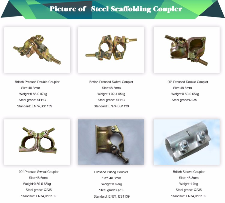 Drop Forged Scaffolding Parts Name Of Scaffold Clamp For