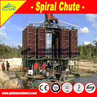 Heavy minerals black sand washing and separating plant gravity equipment spiral separator