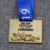 Customize zinc alloy metal 3D emboss jiu jitsu sports gold award medal