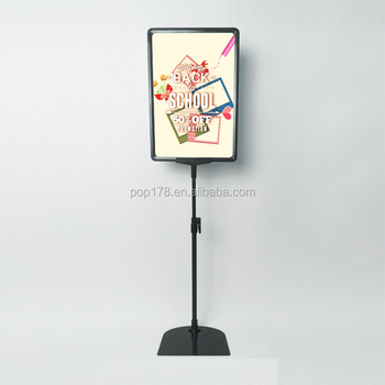 Shopping Mall Store Plastic Adjustable Poster Display Frame Stand ...