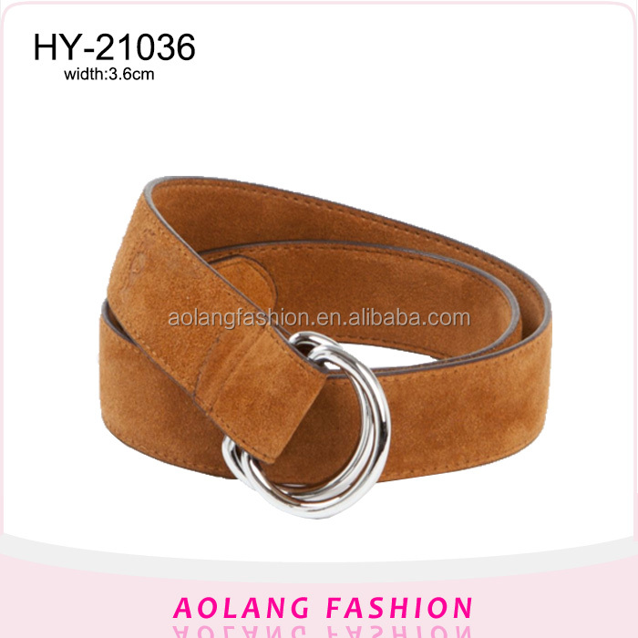 Men new model real pure leather belt plus size leather belt brown suede 44 inch leather belt