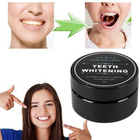 OEM 30g Black Activated Bamboo Charcoal Tooth Powder Oral Hygiene Cleaning Teeth Whitening Stains Tartar Removal Tooth White
