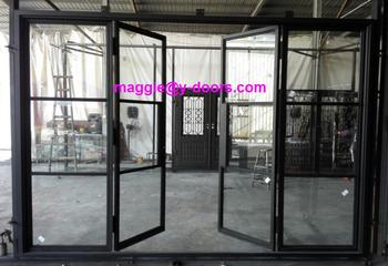 Steel French Doors ModernBI Fold Door Sliding Door With Sidelight And  Transom