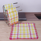 30x30cm yarn dyed checked design cotton waffle woven cleaning dish cloth