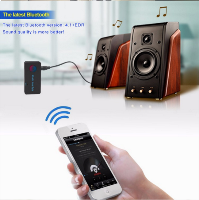 GXYKIT Portable Wireless Adapter 3.5mm Stereo Output 4.1 A2DP Bluetooth Receiver aux bluetooth receiver car