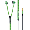 high quality in ear zipper earphones with microphone for mobile phones