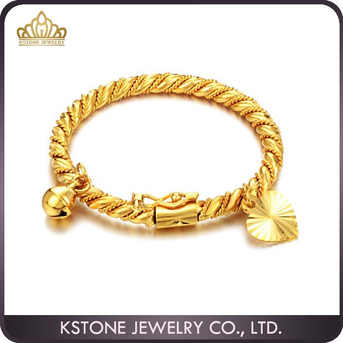 Kstone 18k Gold Bangle Saudi Arabia Jewelry Babies Bracelet Latest Design Daily Wear