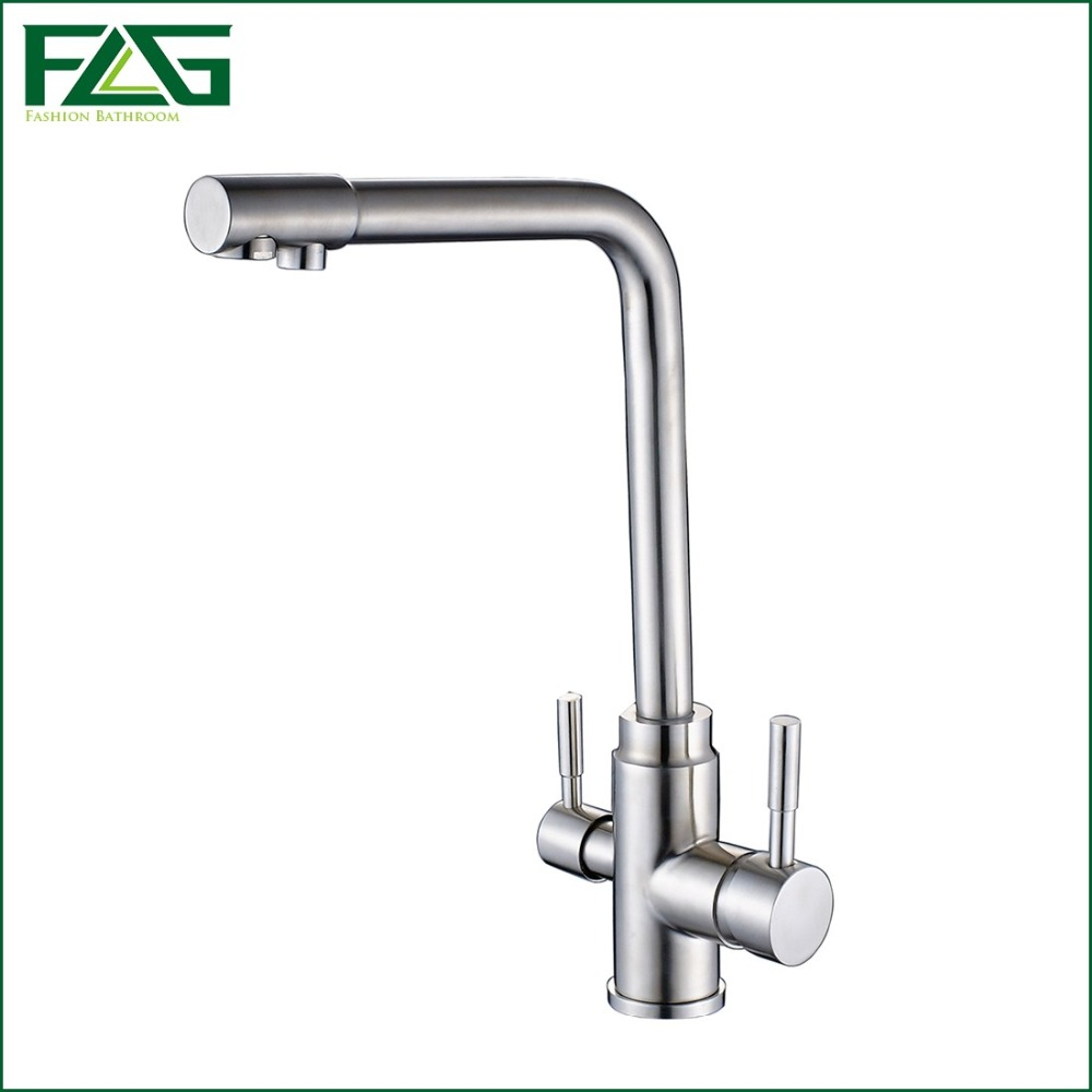 buy flg 3 way tap 304 stainless steel drinking water faucet water filter. Black Bedroom Furniture Sets. Home Design Ideas