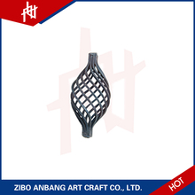 Wrought solid bar wire iron basket decorative for wedding cast fence ornaments