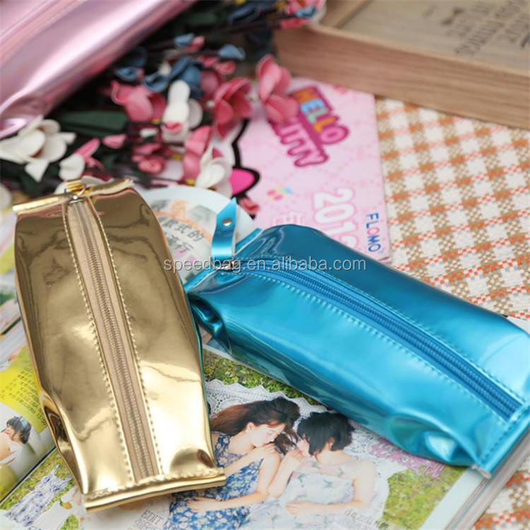 Custom new type colorful leather pencil bag