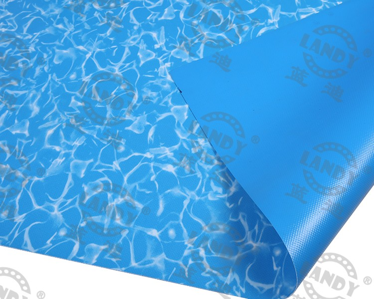 Blue color pool pvc pond liner material for outdoors for Pond liner material