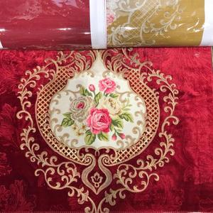 Factory velvet fabric Turkish curtains embroidery velvet fabric morocco