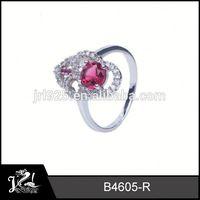 New design emerald jewlery 3 color ring bangkok 925 sterling silver jewellery