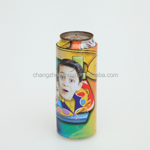 Pretty Dia.64*167mm H drink shape nutcracker tin box with CMYK