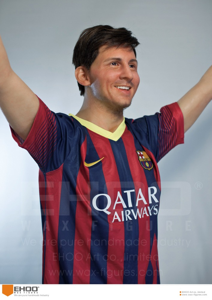 Soccer Player Waxwork Lionel Messi Realistic Celebrity Wax Figures