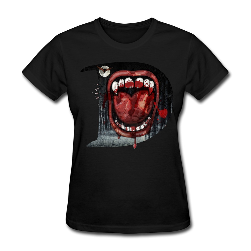 free shipping gildan womens tee shirt dracula custom cool photo women t shirts in t shirts from. Black Bedroom Furniture Sets. Home Design Ideas