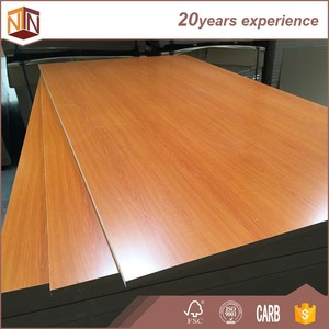 China 4*8 E2 grade 12mm laminated mdf board/sheet for indoor use