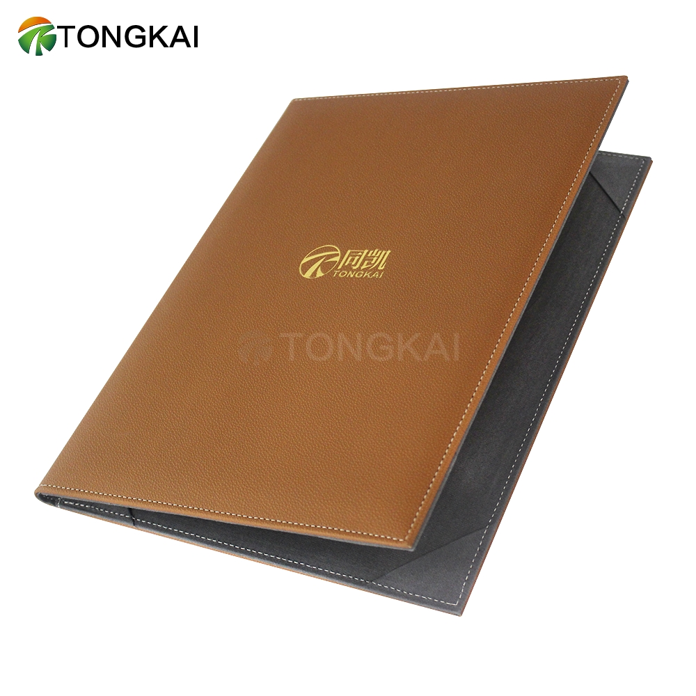 Hardcover A4 Degree Metal Cornerleather Certificate Folder Display