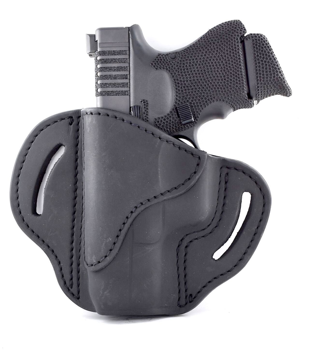 1791 Gunleather Glock 19 Holster - Right Hand OWB G19 Leather Holster for Belts - Fits Glock 19, 23, 26, 27, H&K VP40 and Springfield XDS (BH2.1)