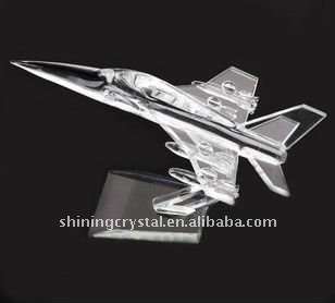 2015 new arrival crystal airplane model