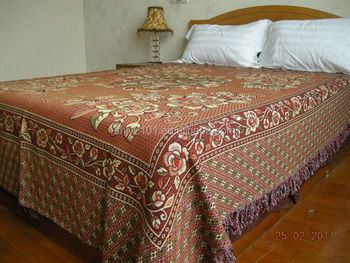 For Iraq Market Thick Thread Cotton Blanket Jacquard Bed Sheet