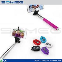 Selfie palo wireless control de bluetooth para teléfono móvil monopod del trípode mano monopod para el iphone ios android smart phone