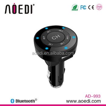 Svært Wireless Fm Transmitter Dab+ A2dp Music Transmission Bluetooth Car YE-92