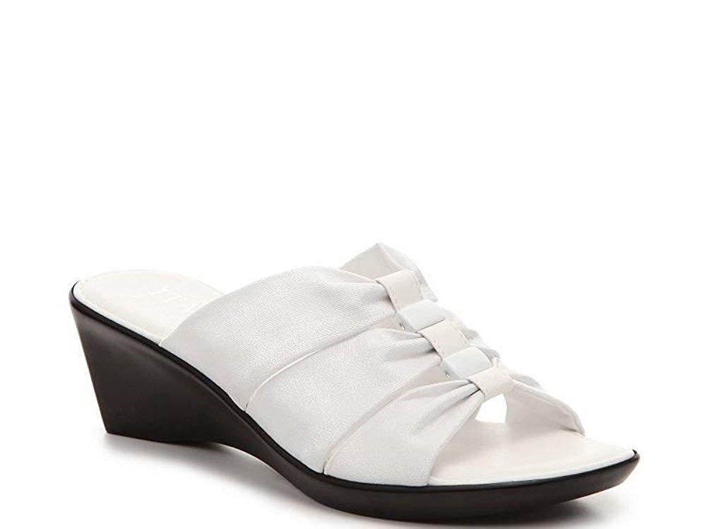 61e99d0724a8e Get Quotations · ITALIAN Shoemakers Women s Wedge Sandals - Warmer - White