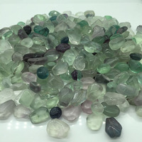 Wholesale polished high quality natural rainbow fluorite tumbled stone crystal for landscaping