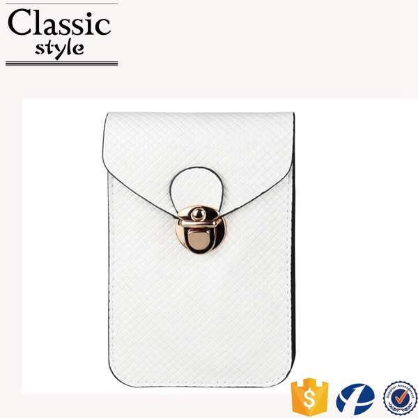 CR Korean designer developed noble wholesale lady phone pocket white abrasion scratch more durable coin purses wallet