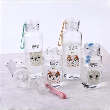 f8e5ac41d9b7 Uchome Small Cute 300ml Glass Water Bottle Portable Cute Animal Glass  Bottle - Buy White Glass Bottle,Animal Shaped Glass Bottles,Small Glass  Bottles ...