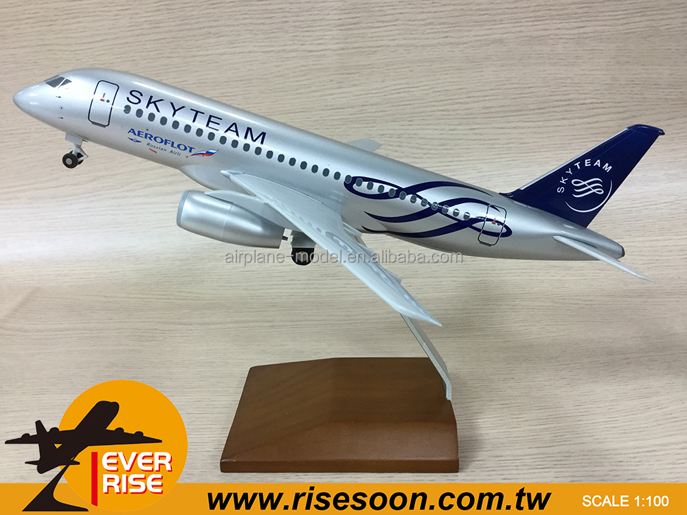 SUKHOI SSJ-100 Russian Airlines Scale 1:100 Plastic Airplane Model