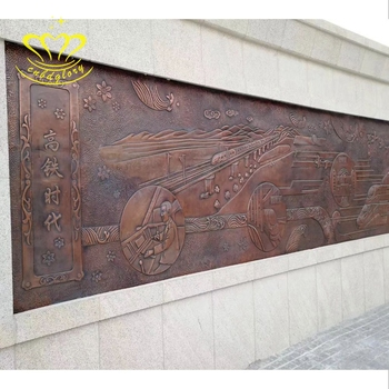 Wholesale Metal Wall Crafts New Product Large Bronze Relief Sculpture For Garden Home Decor