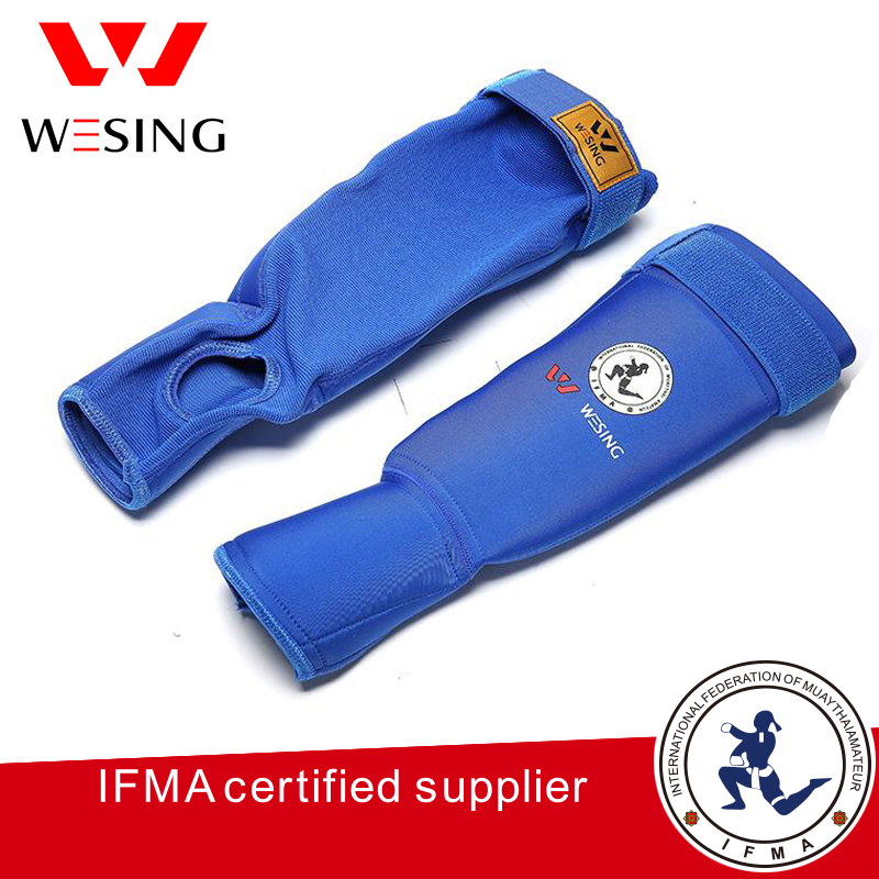 Wesing muay thai shin guards IFMA approved shin pad blue red colors