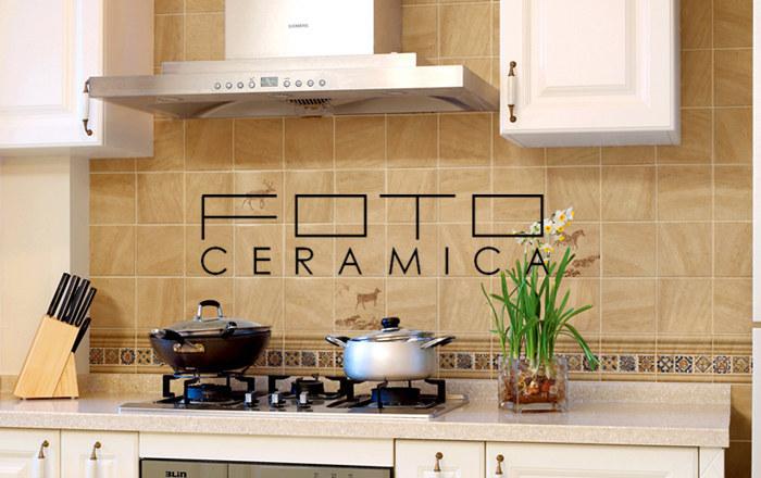 Rustico marrone chiaro mattonelle di terracotta cucina cm