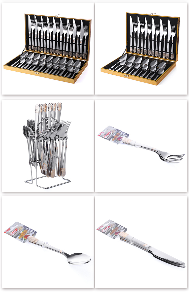 Bulk Outdoor Silverware Set Stainless Steel Portable Travel Cutlery Set