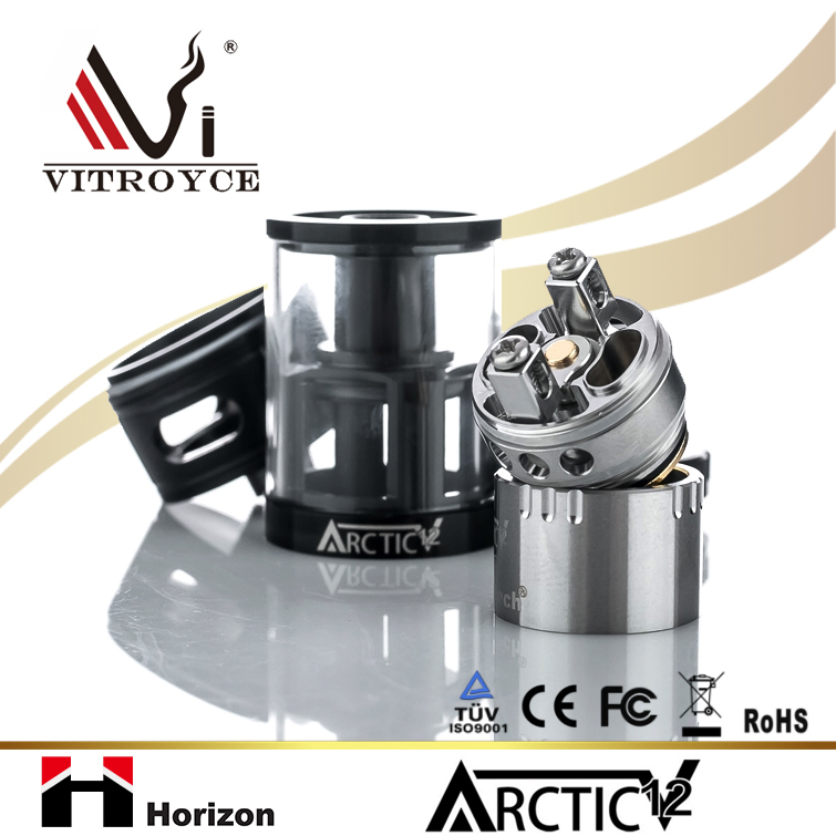 2017 New Arrivals 100% Original Best selling products electronic cigarette wholesale Horizon Arctic V12 Tank with China Supplie