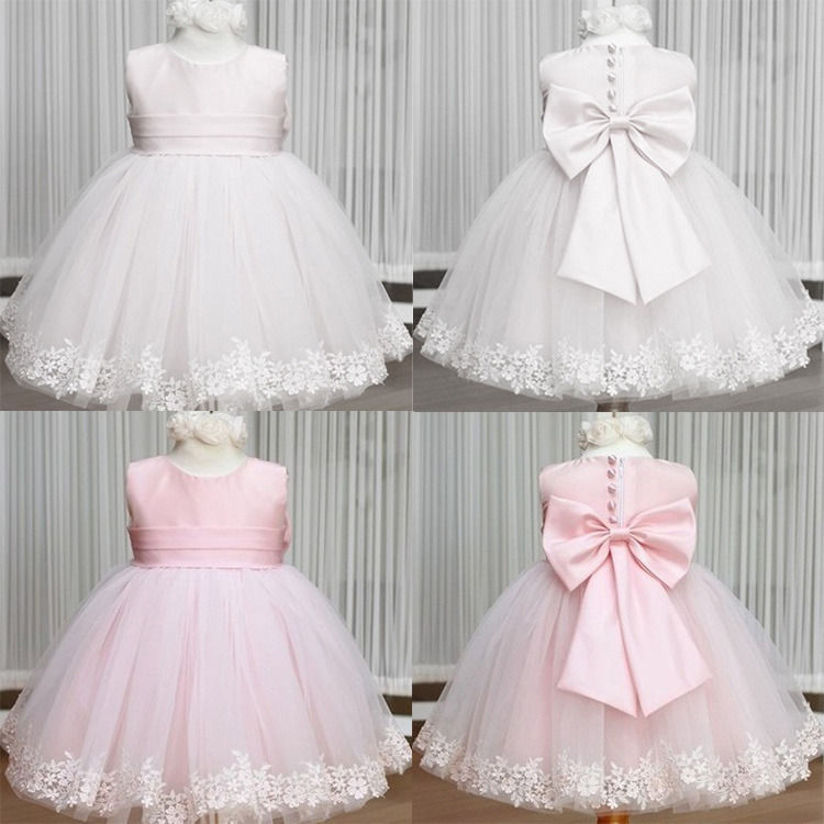 Wedding Cocktail Party Flower Bow Girls Princess Gown Kids font b Fancy b font font b