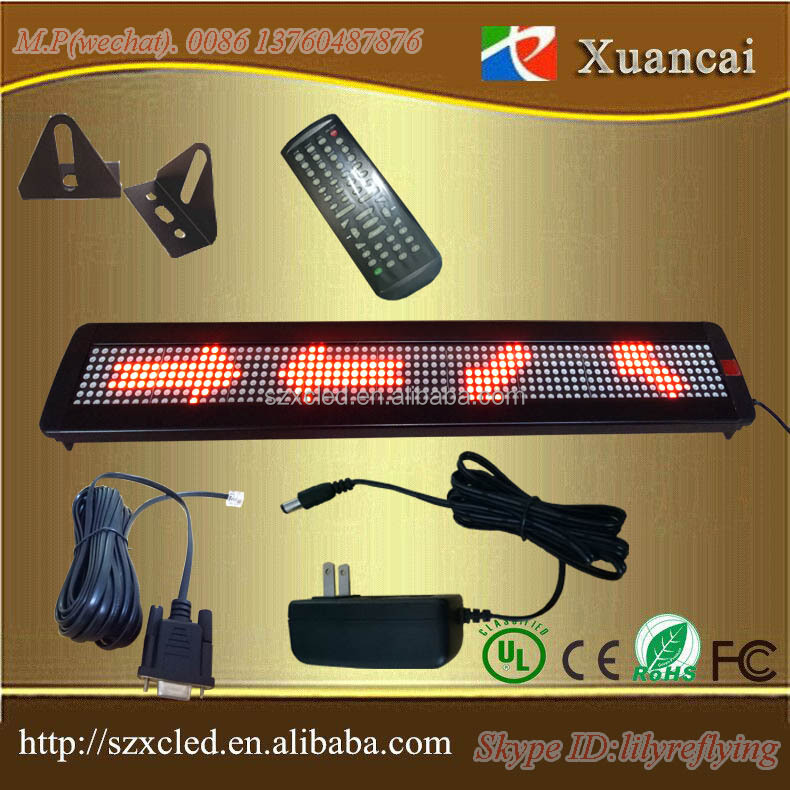 RG led sign interior LED single line IR remote controller programmable display carton,graphic,image,date,time