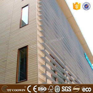 Exterior facade decorative plastic wood composite wall board