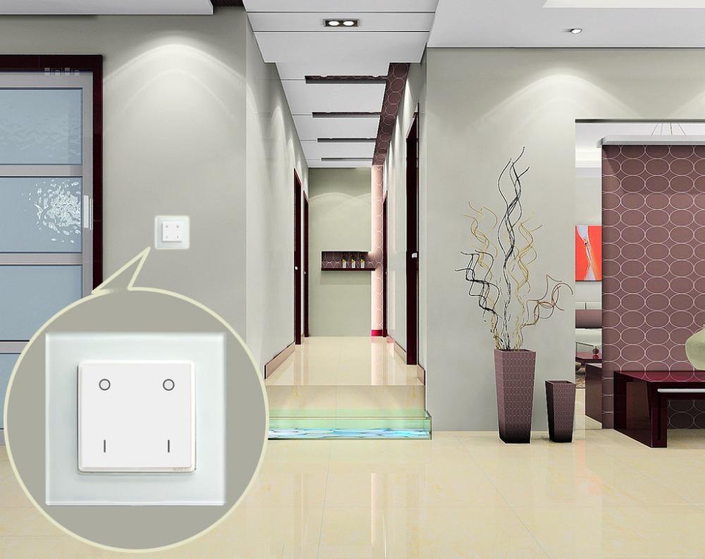 smart home draadloze wifi licht schakelaar met touch screen installeren in muur schakelaar muur. Black Bedroom Furniture Sets. Home Design Ideas