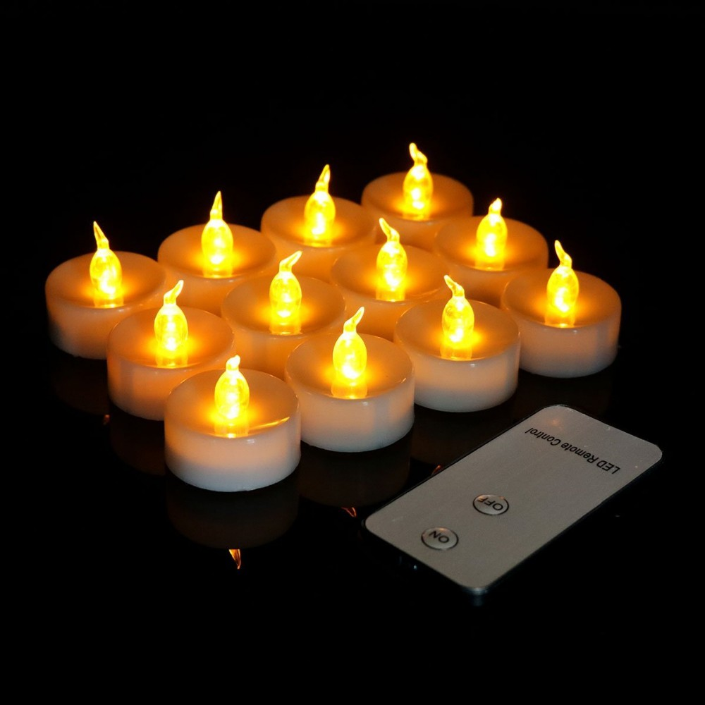 Cheap colors led flameless candle with remote control