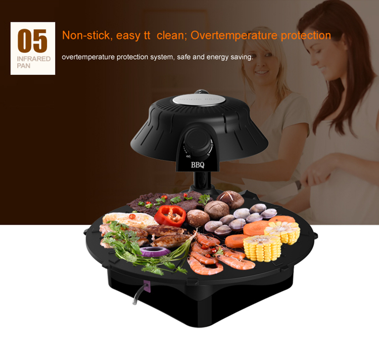 2016 3d Infrared Smokeless Stone Table Grill With Indoor Smokeless ...