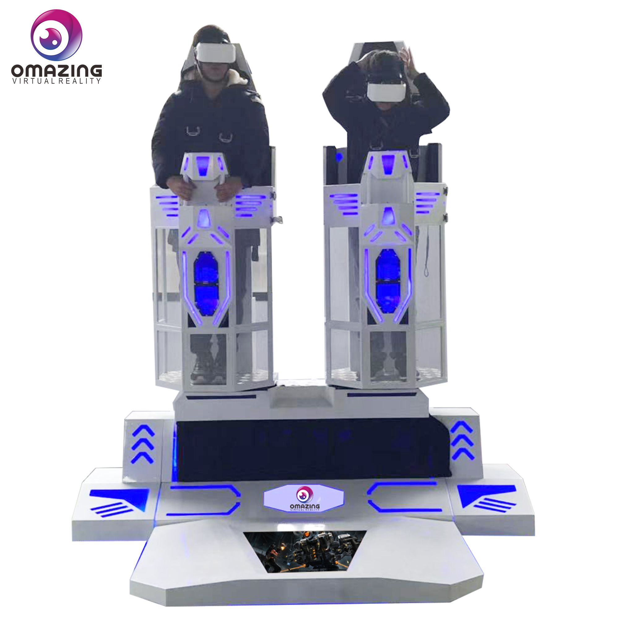 2019 New Model VR 720 Degrees Routation Super Rocket 9D VR Simulator For Theme Park