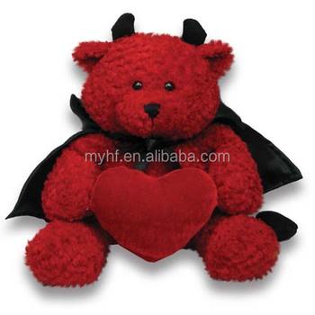 Valentine\'s Day Gift Plush Red Devil Bear Toys De Peluche - Buy ...