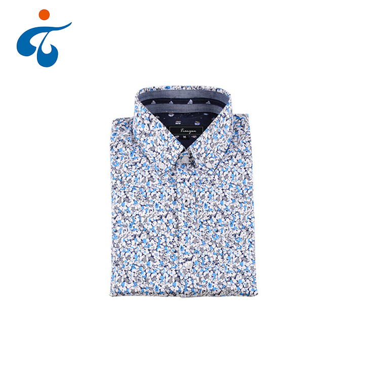 Customized professional wholesale cotton printed men's dress <strong>shirt</strong>
