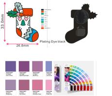 Pin de Lapela Uniforme de Colarinho 2D Personalizado de Metal